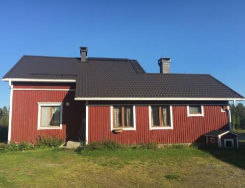 Uudet ulko-ovet ja katto